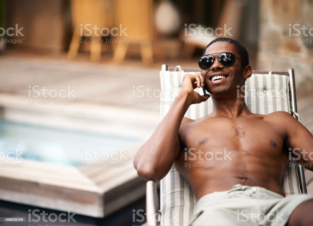 I'm down by the pool! royalty-free stock photo