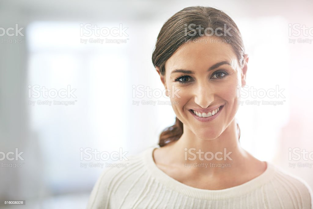 I'm exactly where I want to be in my career stock photo