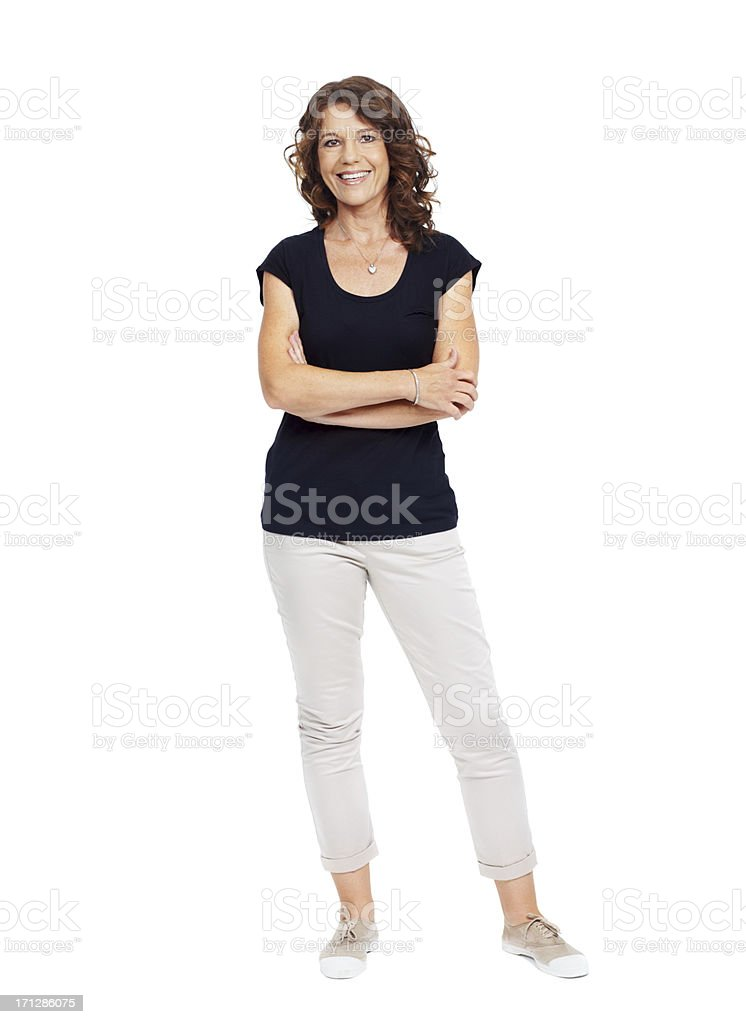 I'm feeling good about myself! stock photo