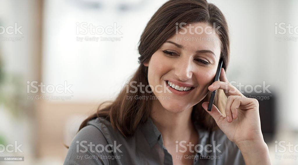 I'm free today. Would you like to come over? stock photo