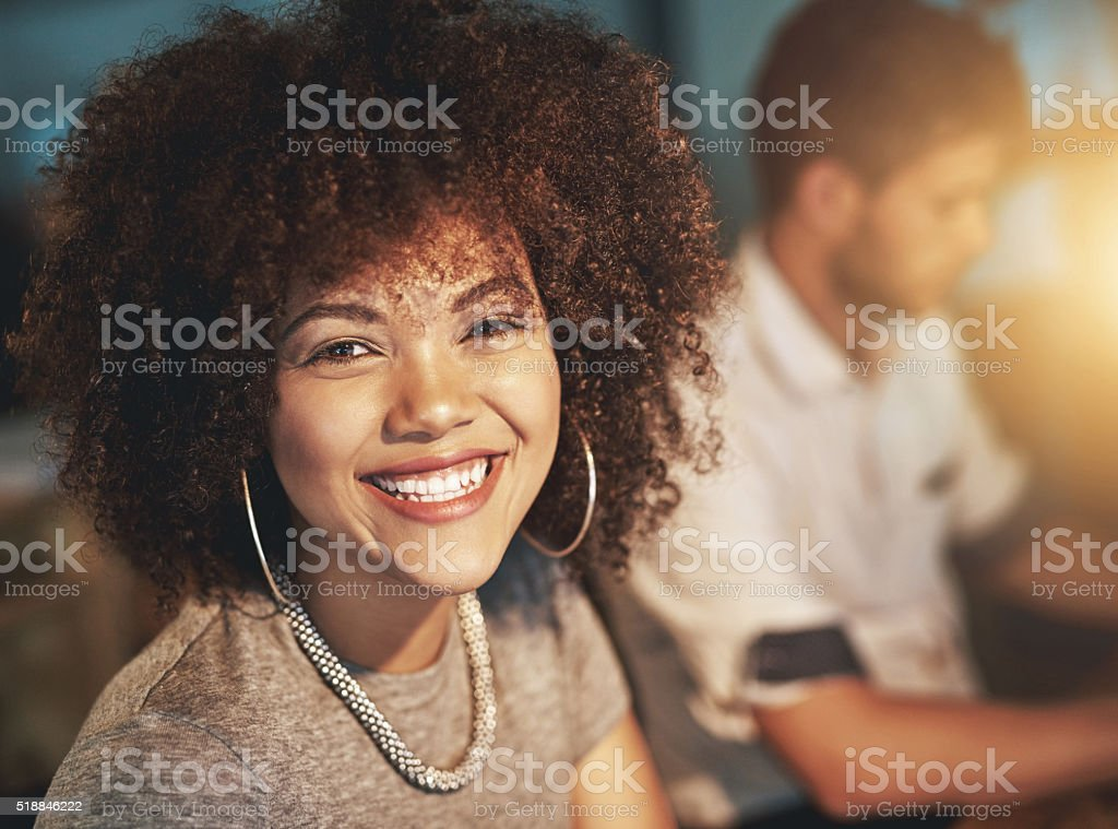 I'm getting the job done quickly and calmly stock photo