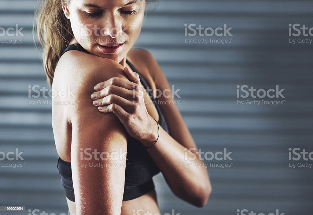 I'm going to be feeling this pain for awhile stock photo