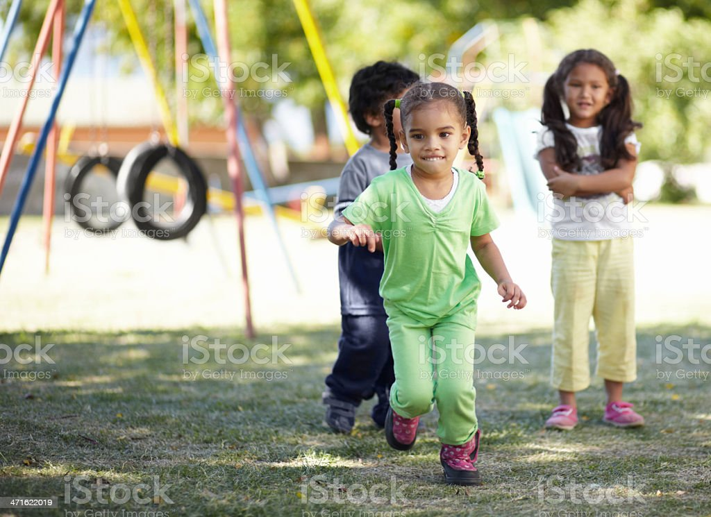 I'm going to be first on the merry-go-round! royalty-free stock photo