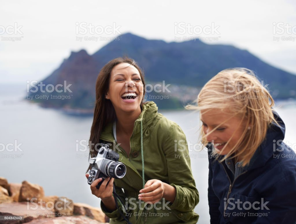 I'm going to fill my camera with memories stock photo