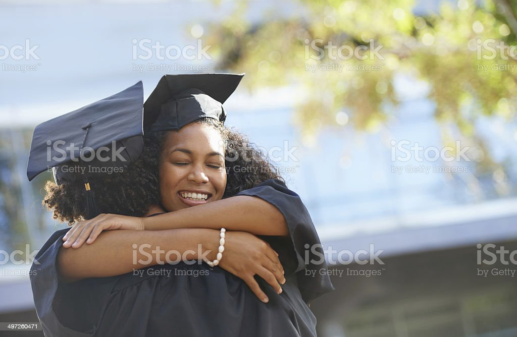 I'm going to miss college and you! stock photo