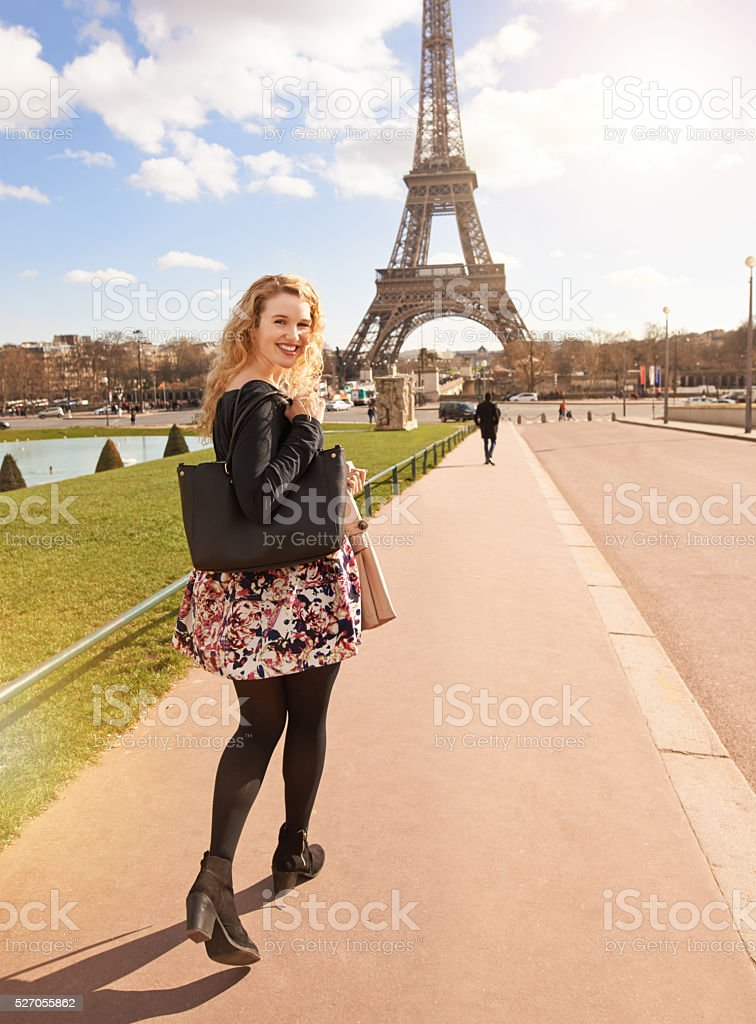 I'm going to the Eiffel Tower stock photo