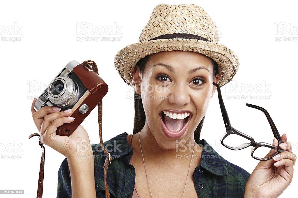I'm gonna take photos! stock photo