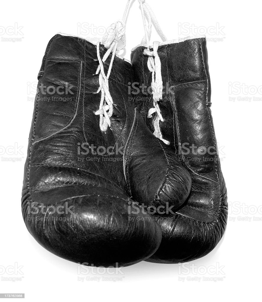I'm Hanging up my Gloves stock photo