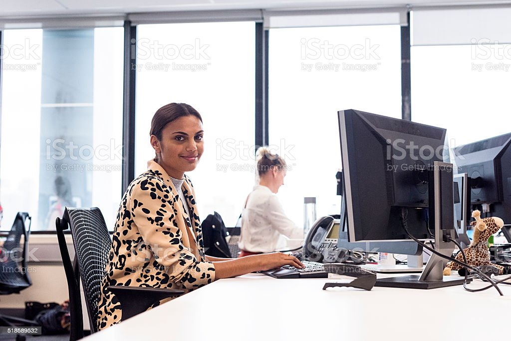 I'm Happy Being Productive stock photo