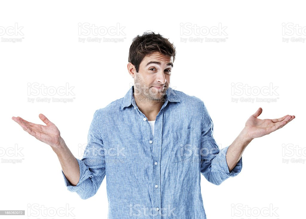 I'm happy not knowing the answer stock photo