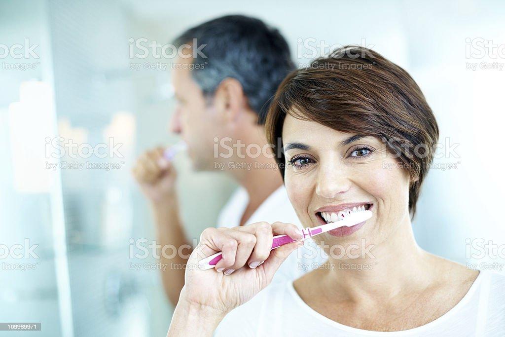 I'm heading towards a bright smile royalty-free stock photo