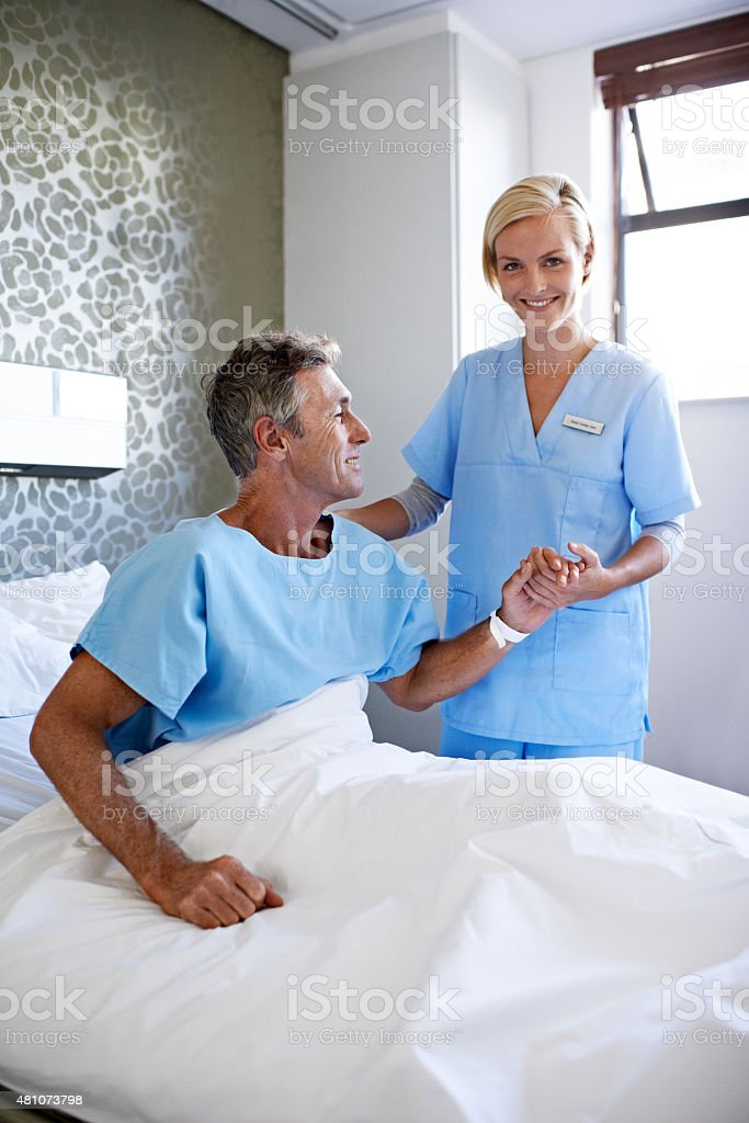 I'm here for everyone of my patients stock photo