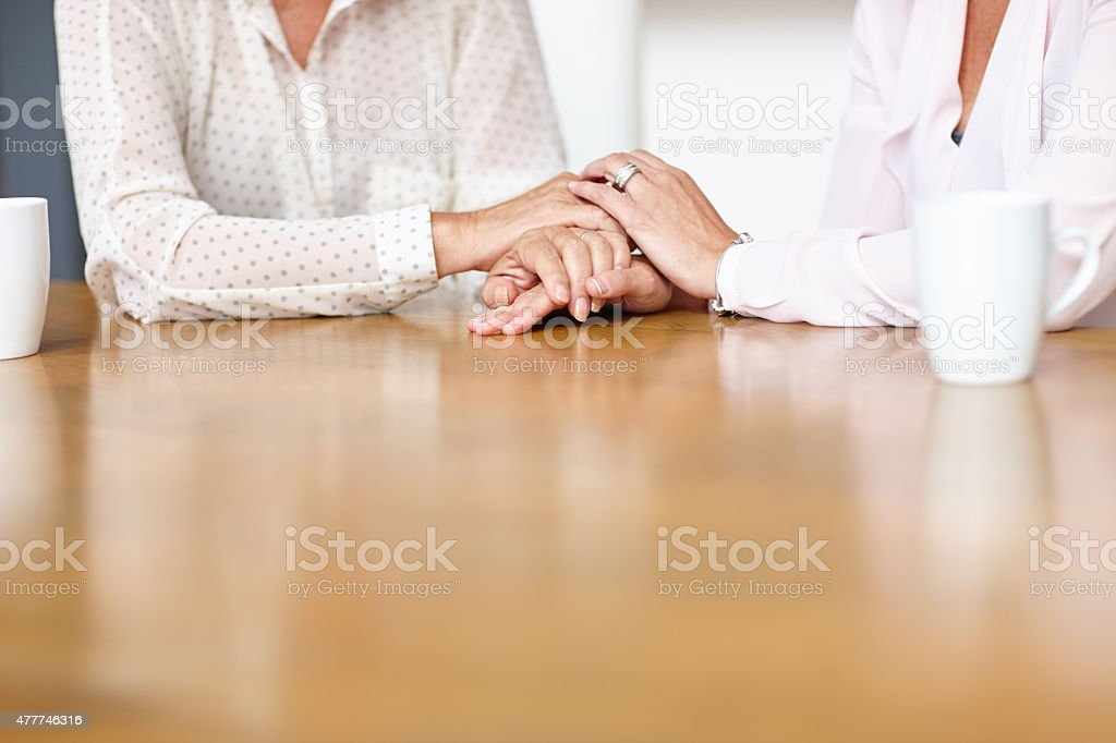 I'm here for you, always... stock photo