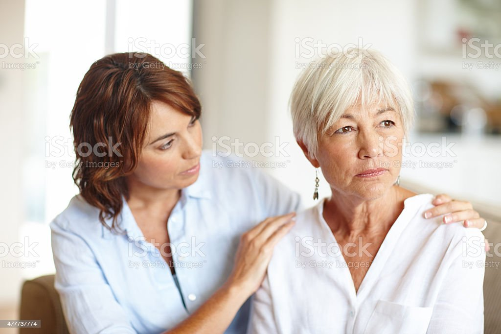 I'm here for you, Mom stock photo