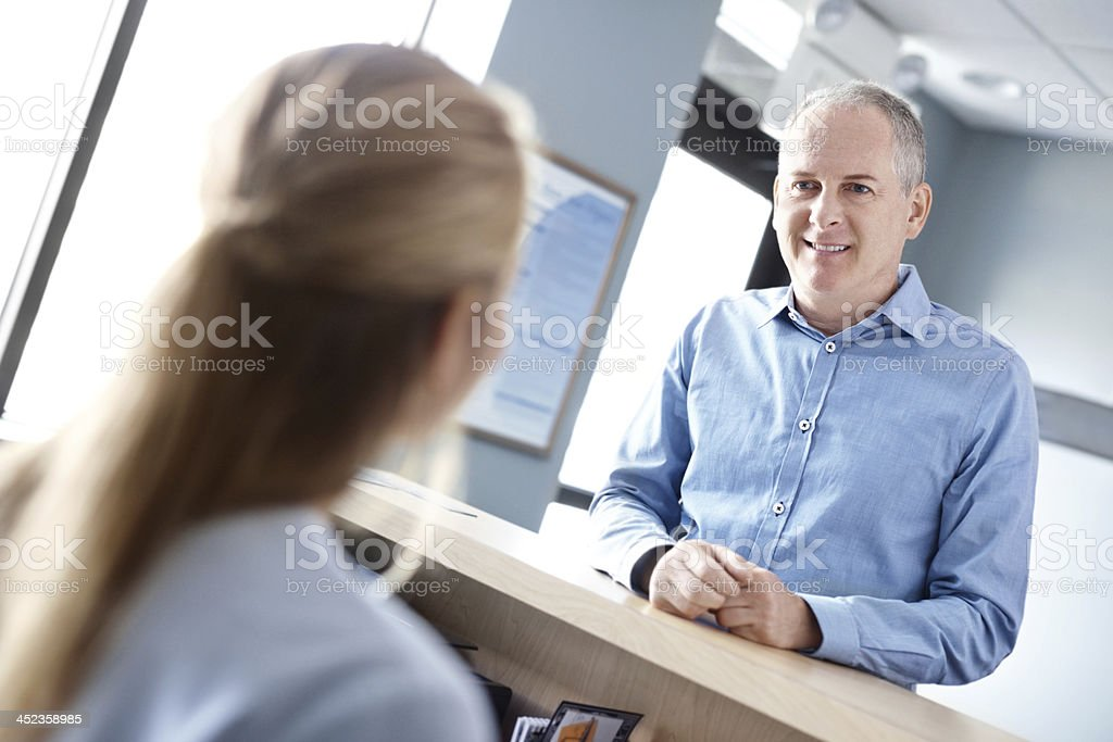 I'm here to see the doctor royalty-free stock photo