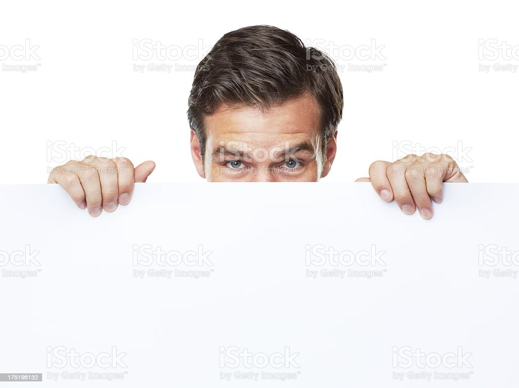 I'm holding this here for you - Copyspace stock photo