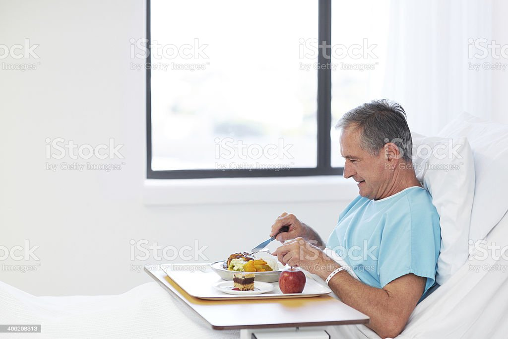 I'm hungry enough to have seconds! royalty-free stock photo
