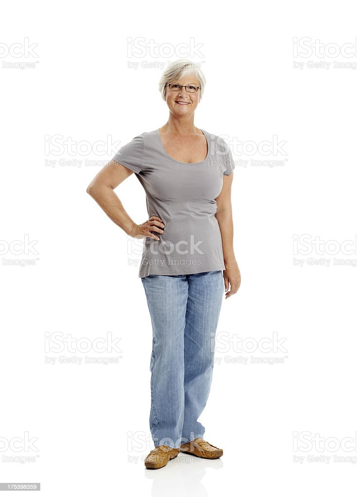 I'm in charge of my life and feeling great! stock photo