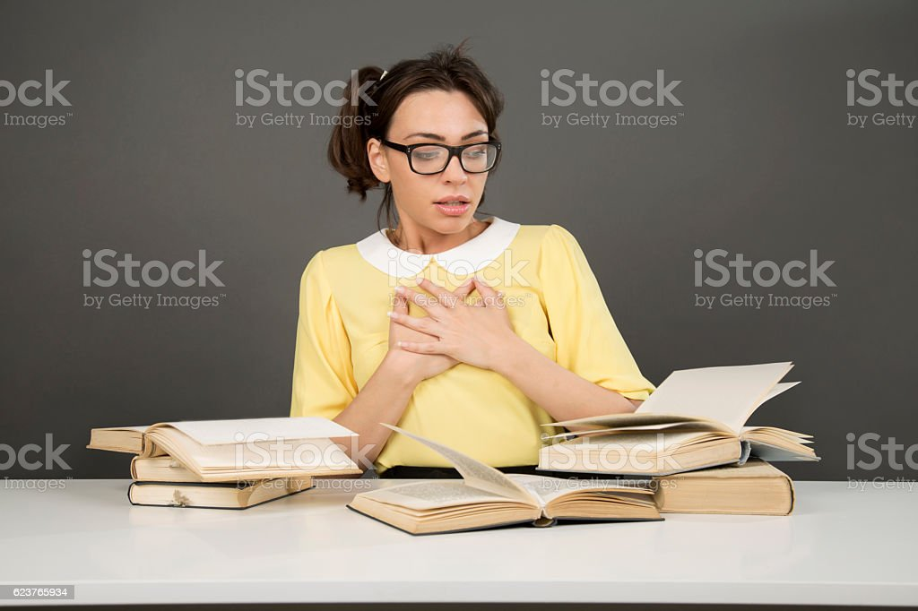I'm in love with these readings stock photo