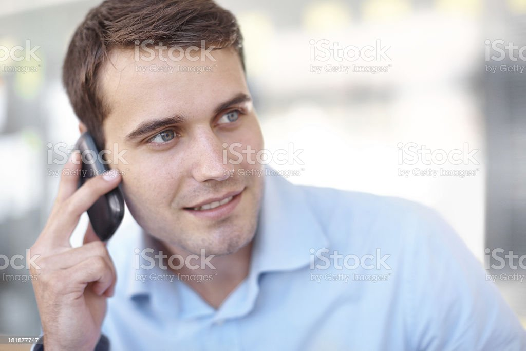 I'm just a call away royalty-free stock photo