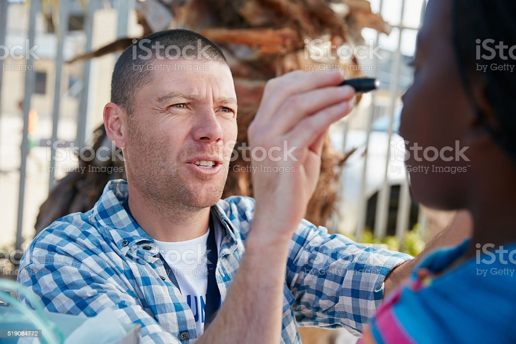 I'm just having a quick look at your eyes stock photo