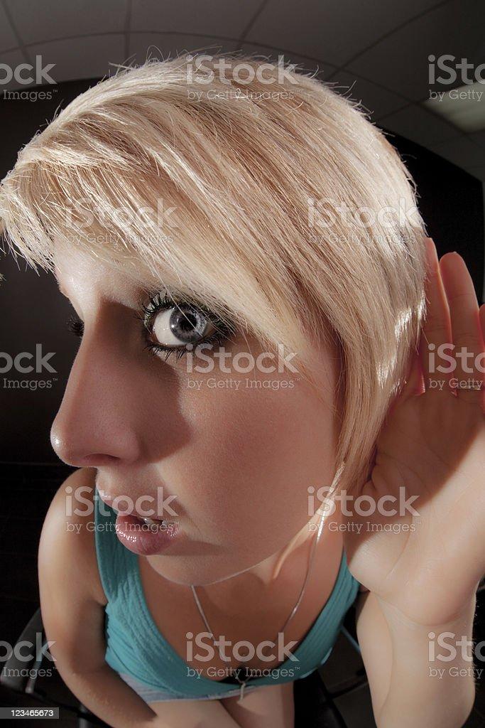 I`m Listening stock photo