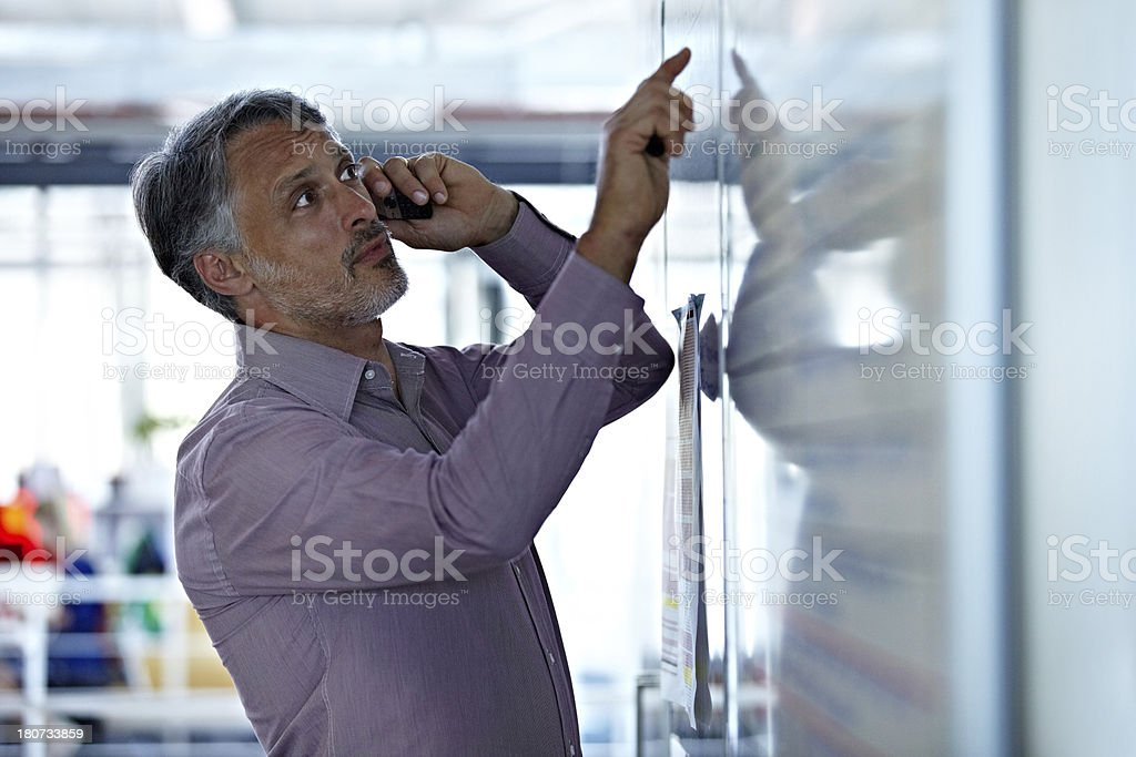 I'm looking at the figures right now royalty-free stock photo