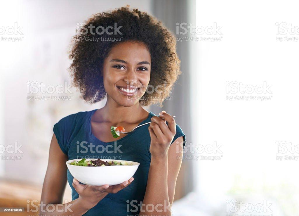I'm loving my new diet stock photo