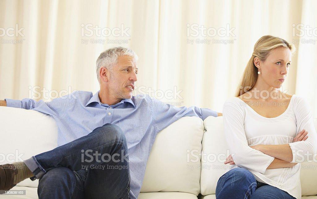 I'm not listening! - Poor relationship communication royalty-free stock photo