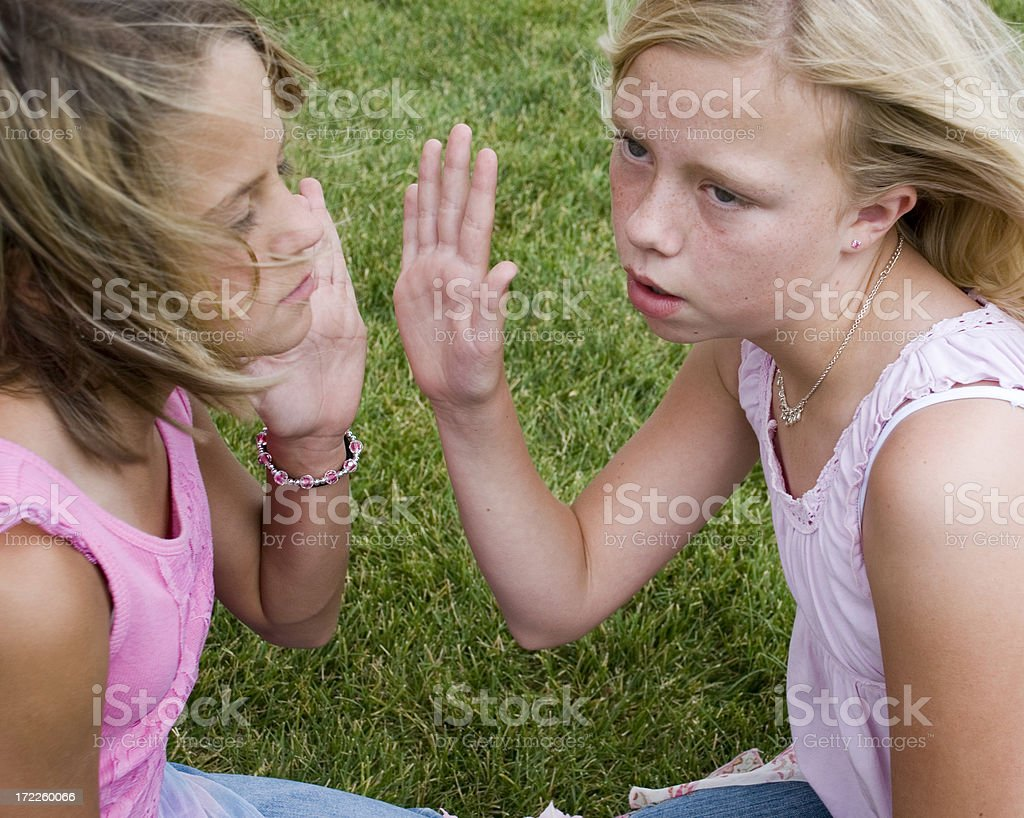 I'm not listening to you anymore! stock photo