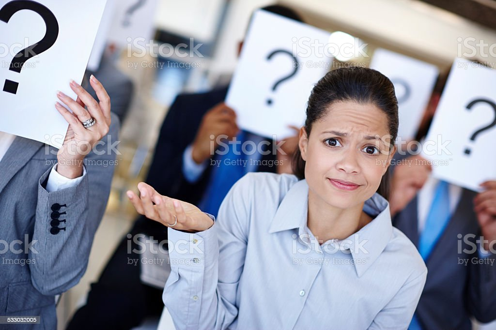 I'm not sure what's going on stock photo