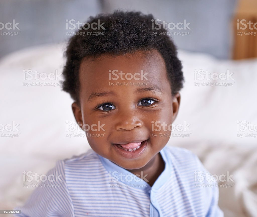 I'm one cute baby stock photo