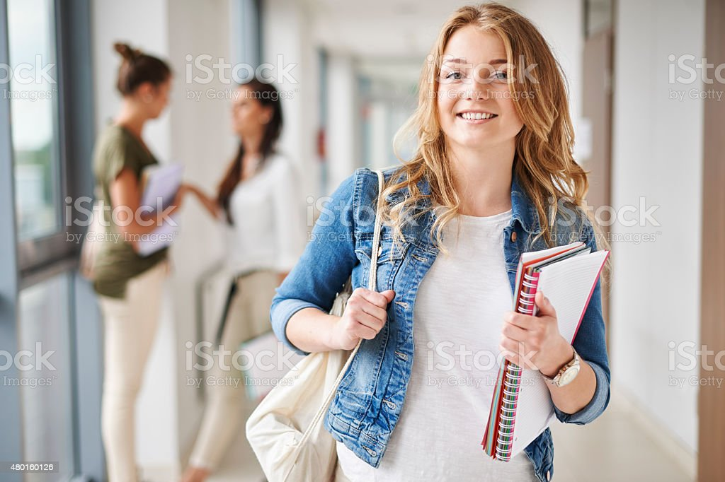 I'm prepared for exam very well stock photo