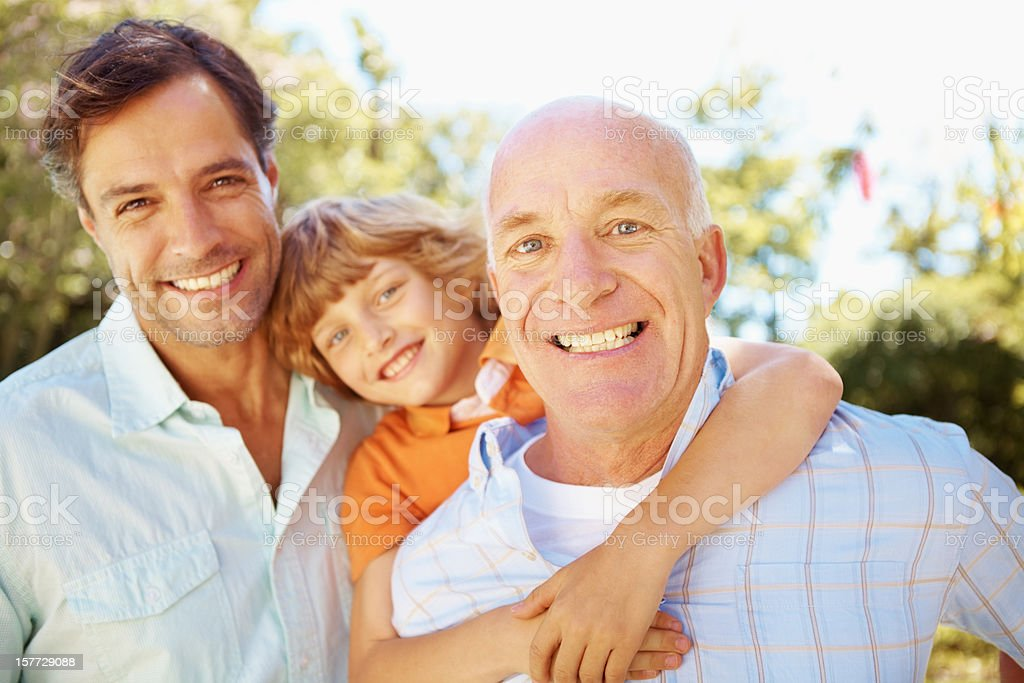 I'm proud of both my boys royalty-free stock photo