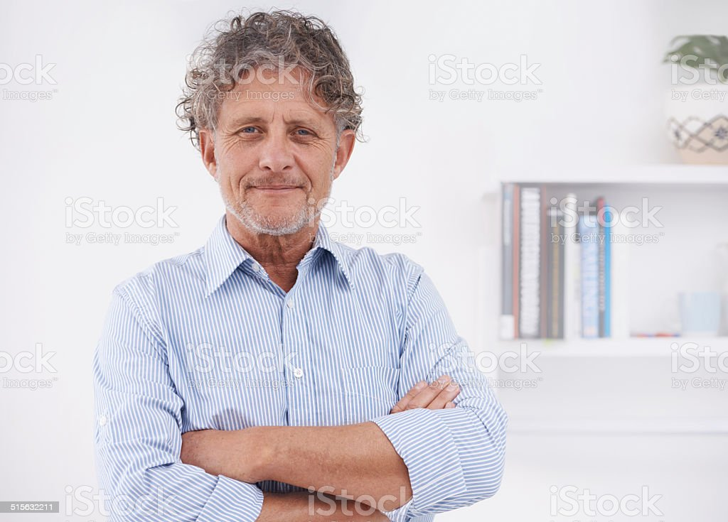 I'm proud of what I've achieved stock photo