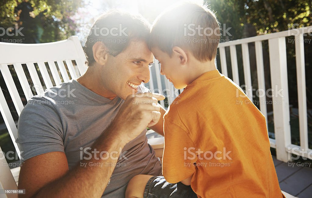 I'm proud of you my boy royalty-free stock photo