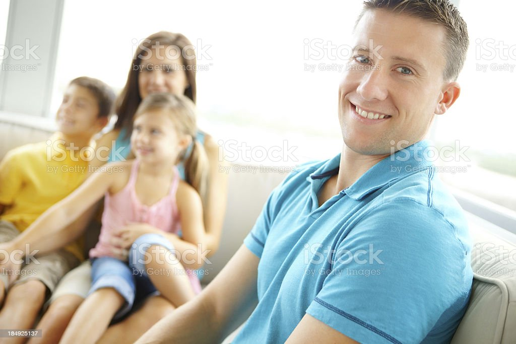 I'm proud to be a family guy royalty-free stock photo