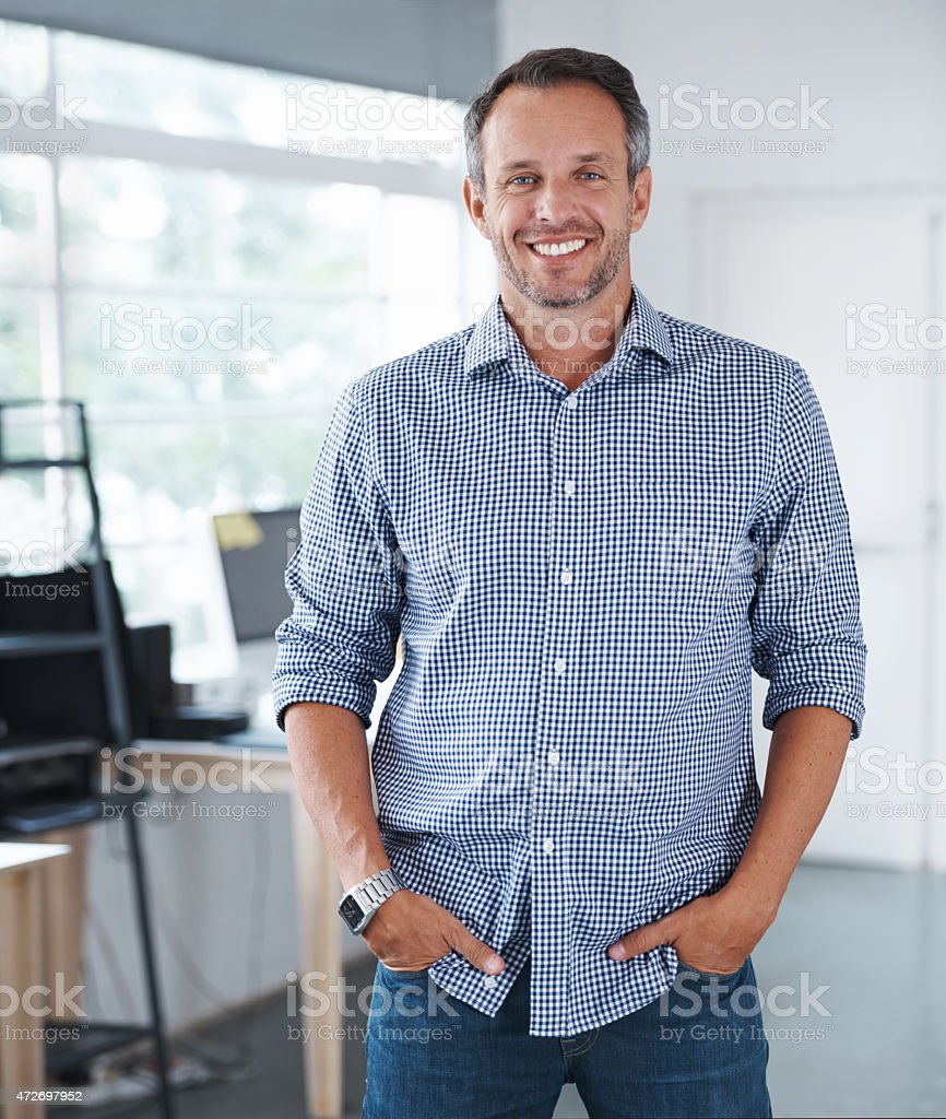 I'm ready for business stock photo