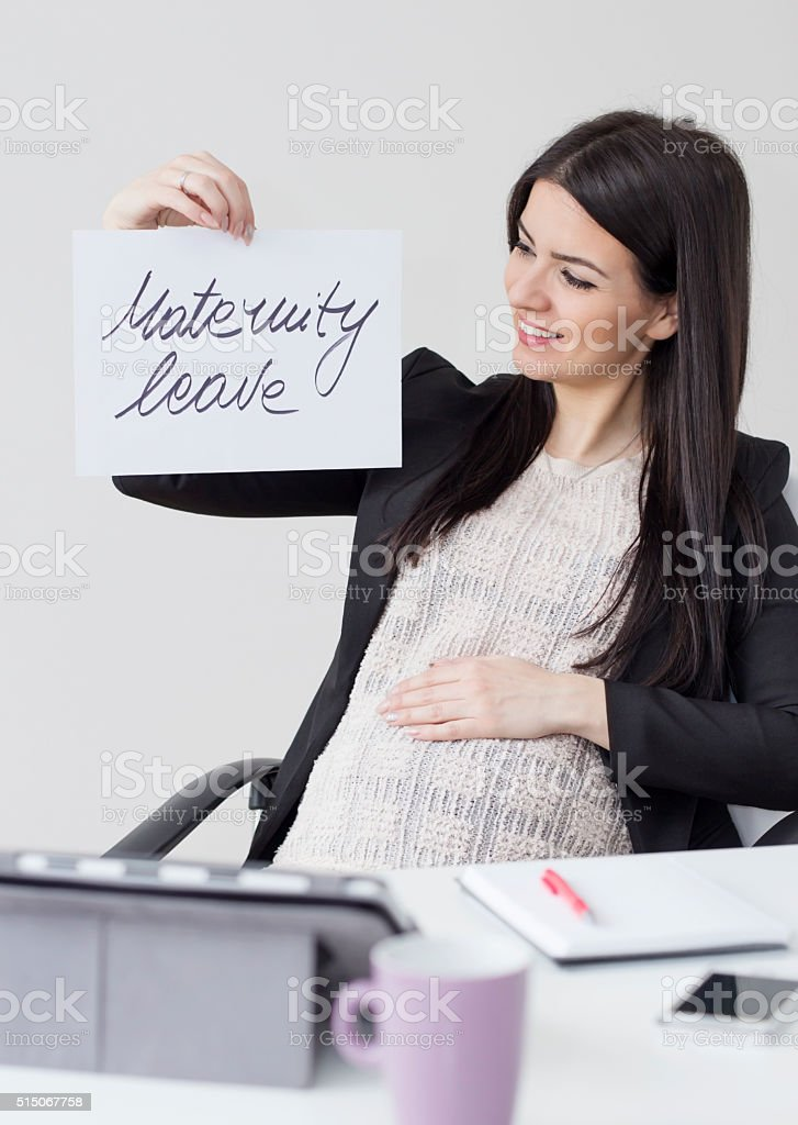 I'm ready for maternity leave stock photo