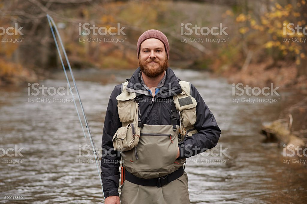 I'm ready to catch some fish! stock photo