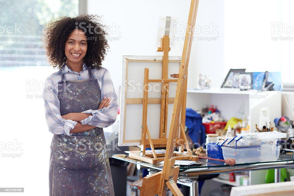 I'm ready to create my masterpiece stock photo