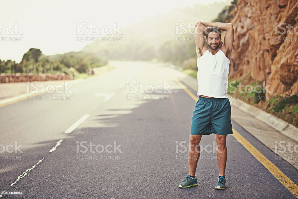 I'm ready to run. Are you? stock photo