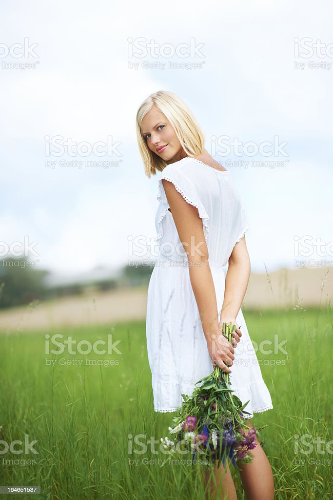 I'm really enjoying myself out here! royalty-free stock photo