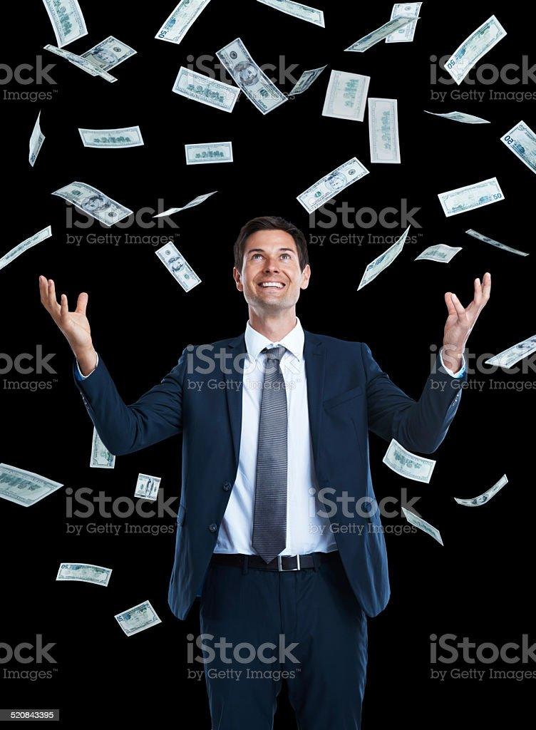 I'm rich! stock photo