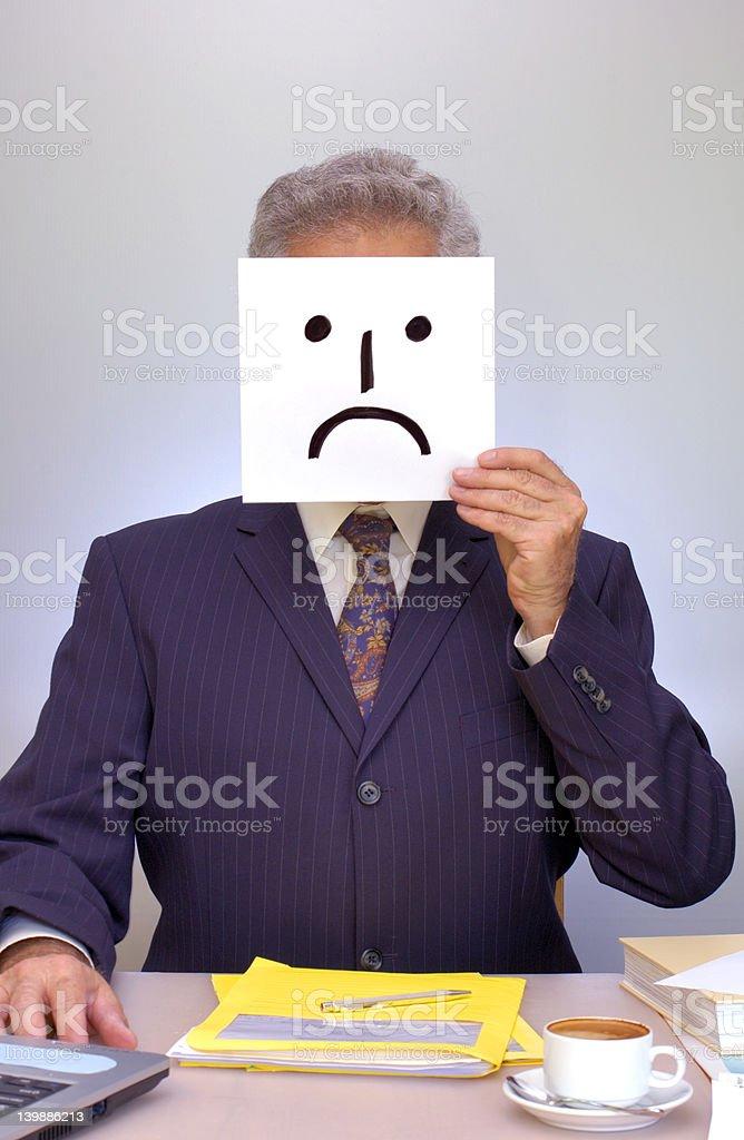 I'm sad ... really I am. stock photo