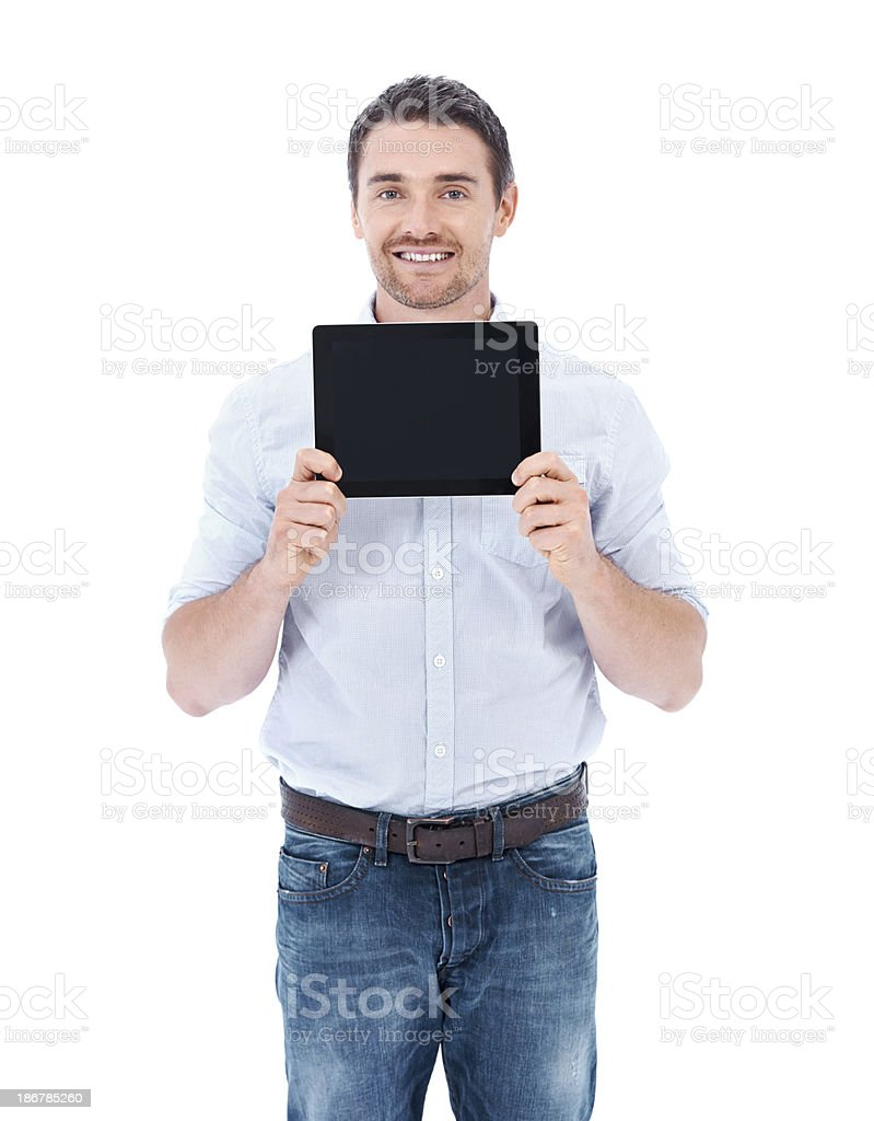 I'm saving this screen-space for you royalty-free stock photo