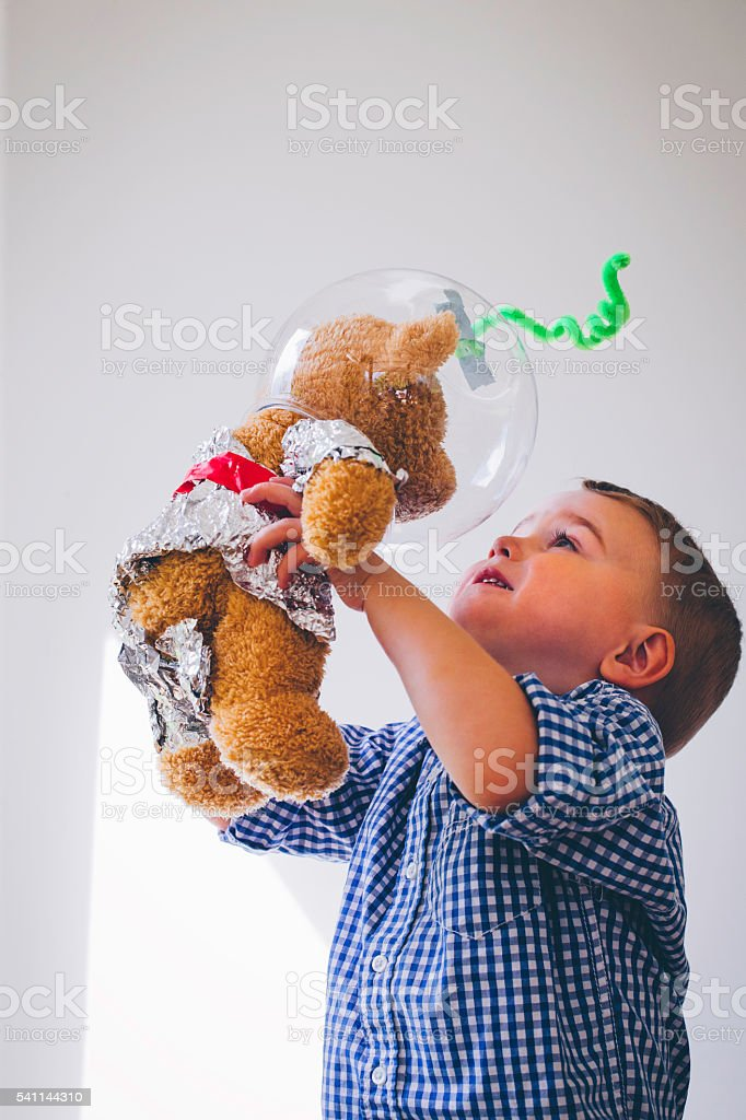 I'm sending you to explore outer space! stock photo