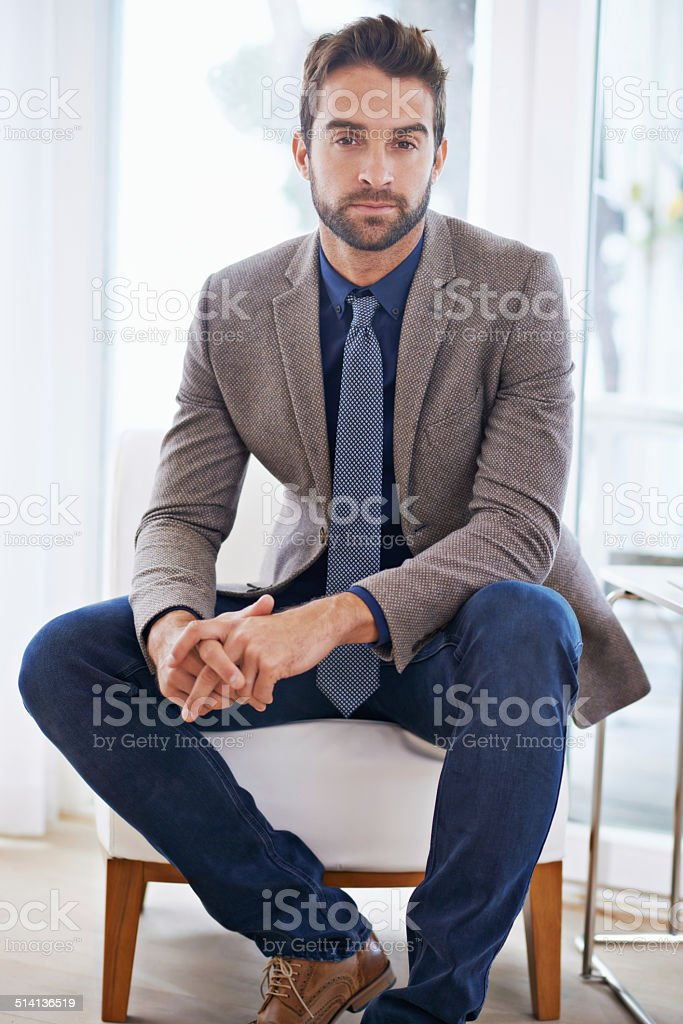 I'm serious about my business stock photo