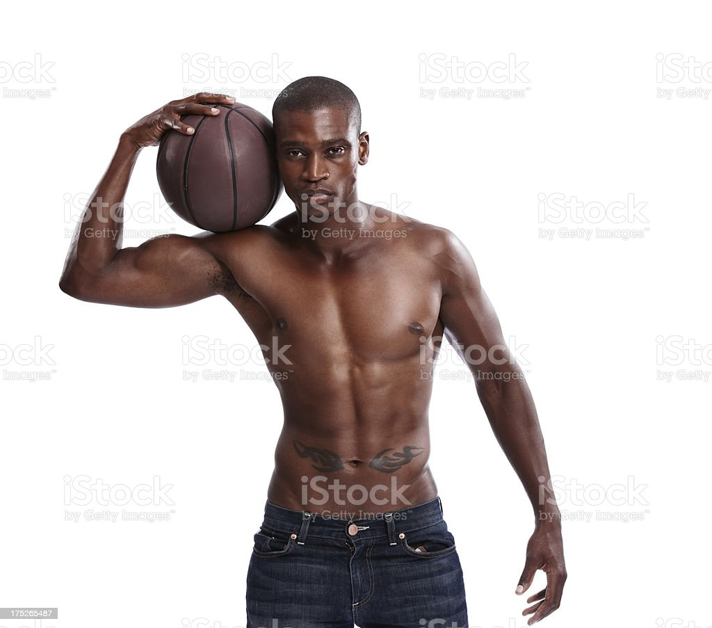 I'm serious about the game! royalty-free stock photo