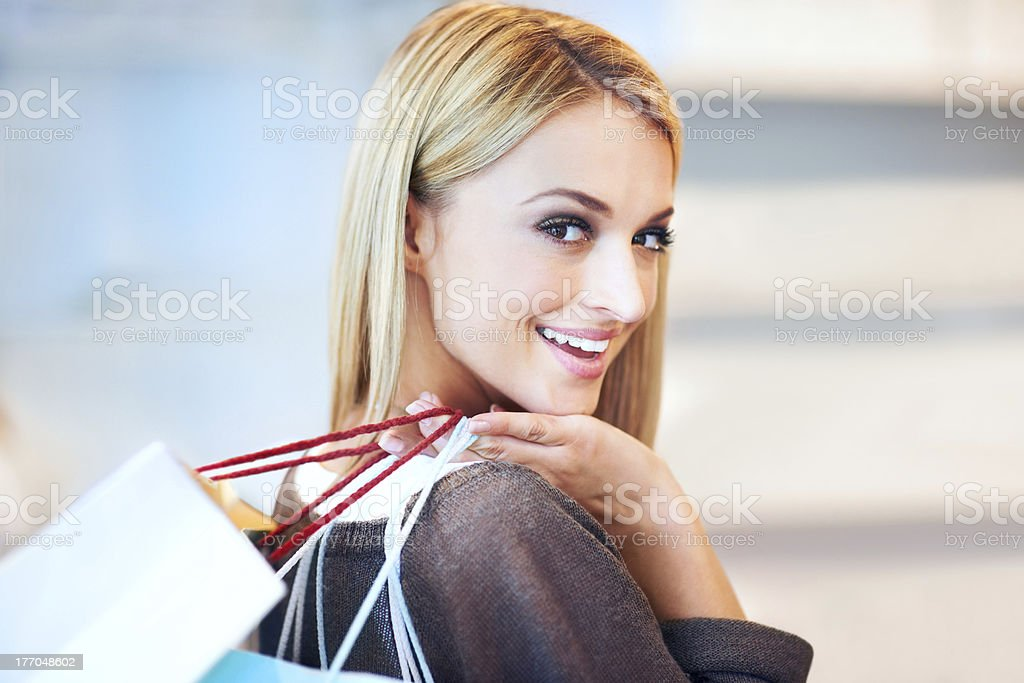 I'm shopaholic and proud of it! royalty-free stock photo